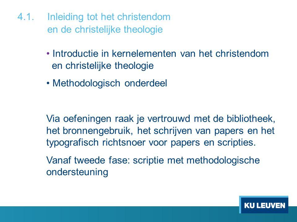 Introductie in kernelementen van het christendom en christelijke theologie Methodologisch onderdeel Via oefeningen raak je vertrouwd met de bibliothee