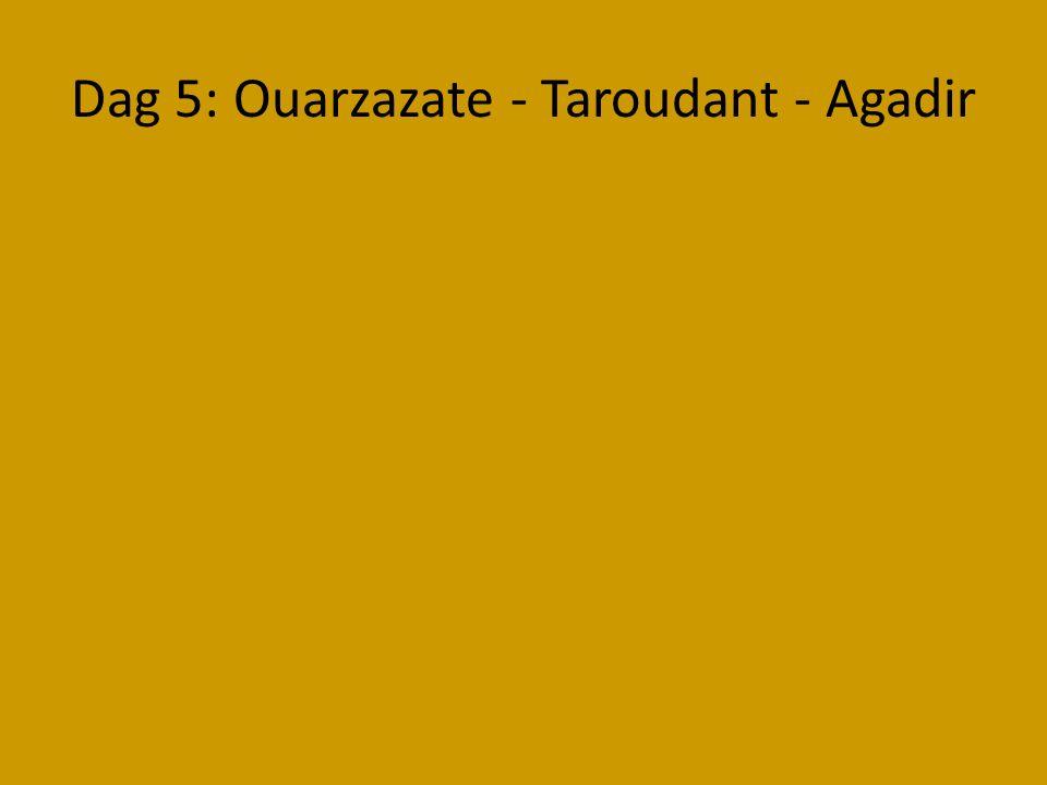 Dag 5: Ouarzazate - Taroudant - Agadir