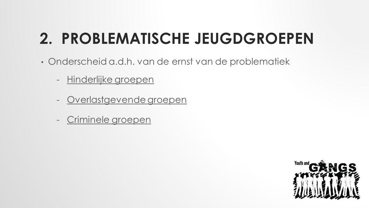2.PROBLEMATISCHE JEUGDGROEPEN Onderscheid a.d.h.
