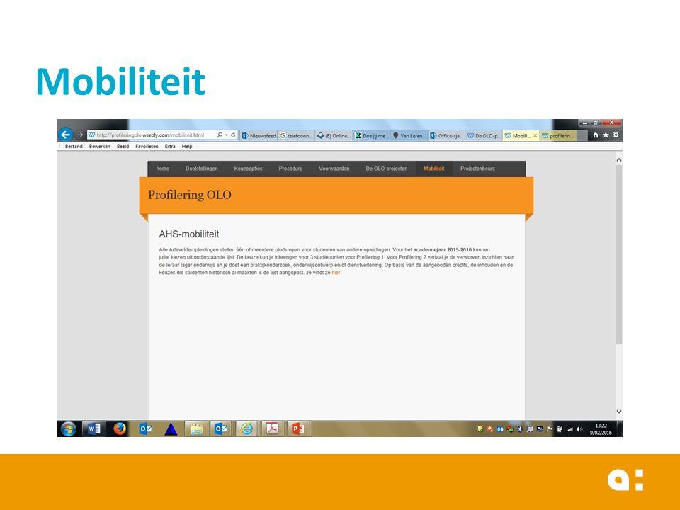  Lijst van openstaande olods (ter inspiratie - nog niet definitief beschikbaar)  Zelf ECTS-fiches bekijken.