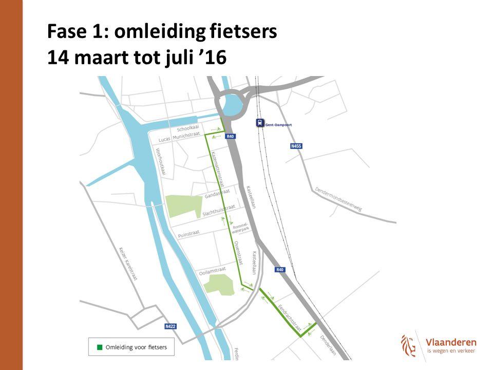 Fase 1: omleiding fietsers 14 maart tot juli '16 15