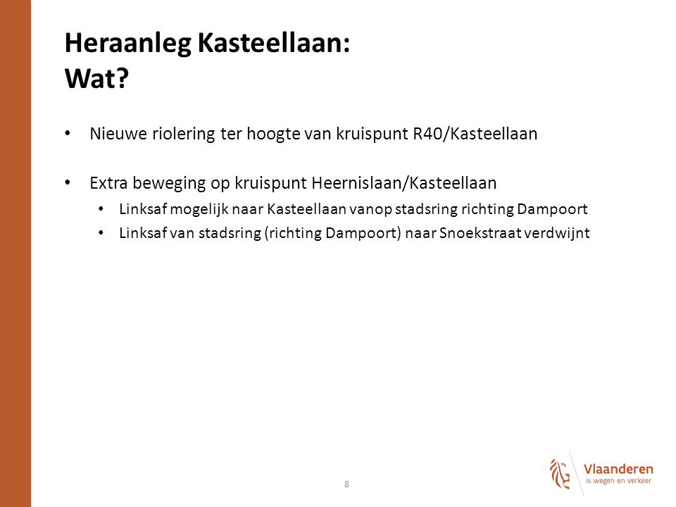 Heraanleg Kasteellaan: Wat.