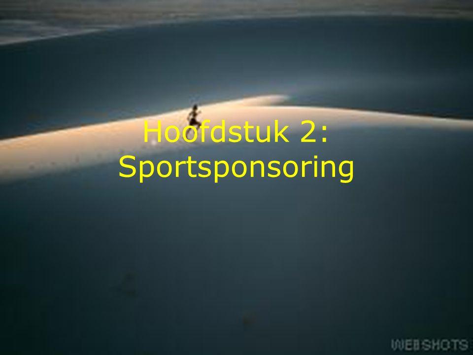 1 Hoofdstuk 2: Sportsponsoring