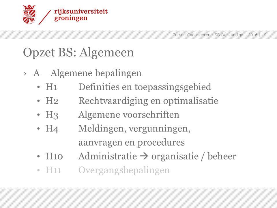 ›AAlgemene bepalingen H1Definities en toepassingsgebied H2Rechtvaardiging en optimalisatie H3Algemene voorschriften H4Meldingen, vergunningen, aanvrag