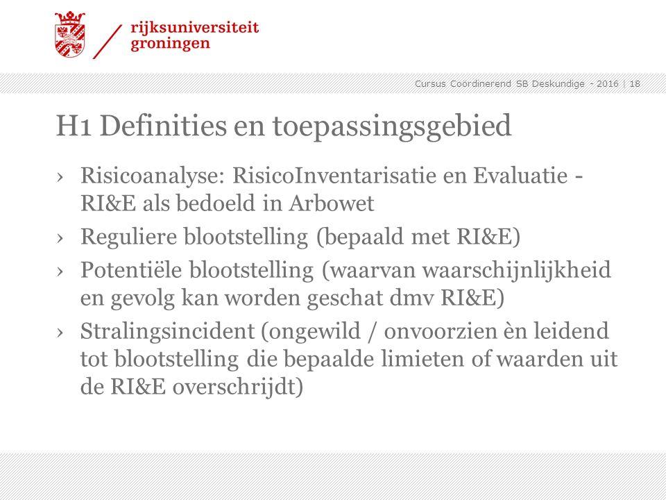 ›Risicoanalyse: RisicoInventarisatie en Evaluatie - RI&E als bedoeld in Arbowet ›Reguliere blootstelling (bepaald met RI&E) ›Potentiële blootstelling