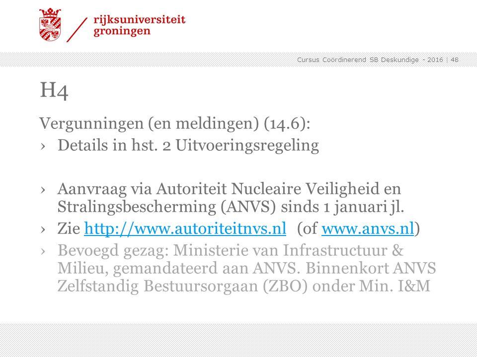 Vergunningen (en meldingen) (14.6): ›Details in hst. 2 Uitvoeringsregeling ›Aanvraag via Autoriteit Nucleaire Veiligheid en Stralingsbescherming (ANVS