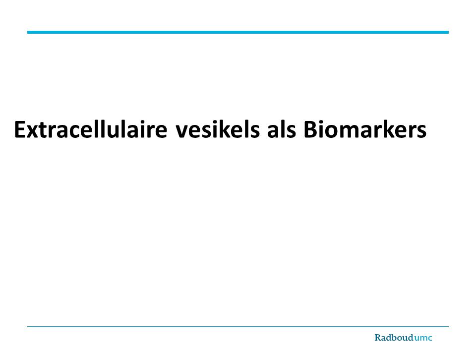 Extracellulaire vesikels als Biomarkers