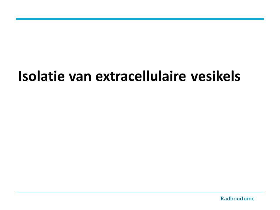 Isolatie van extracellulaire vesikels