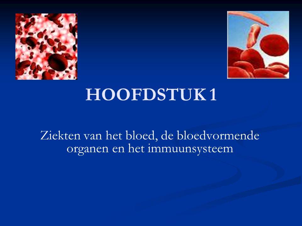 Leucocytose Leucocytose: aantal WBC per ml bloed te hoog Leucocytose: aantal WBC per ml bloed te hoog Beenmerg actief oa ter bestrijding van een infectie Beenmerg actief oa ter bestrijding van een infectie