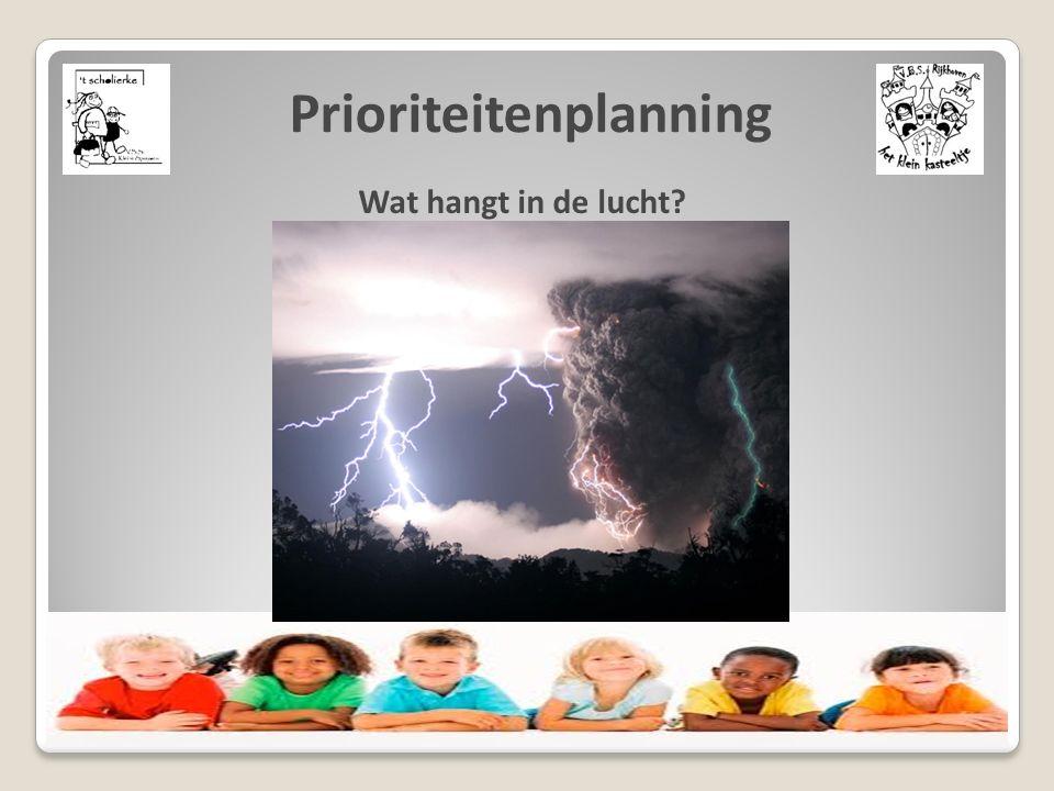 Prioriteitenplanning Wat hangt in de lucht?