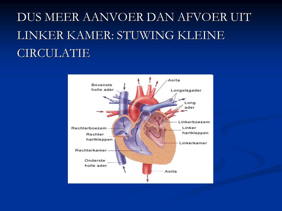 DUS MEER AANVOER DAN AFVOER UIT LINKER KAMER: STUWING KLEINE CIRCULATIE