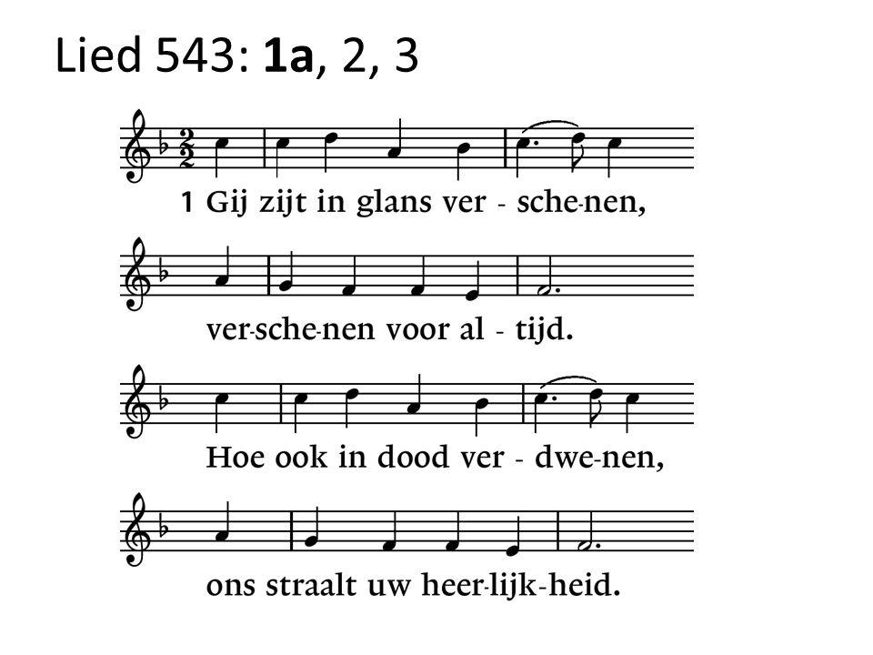 Lied 543: 1a, 2, 3