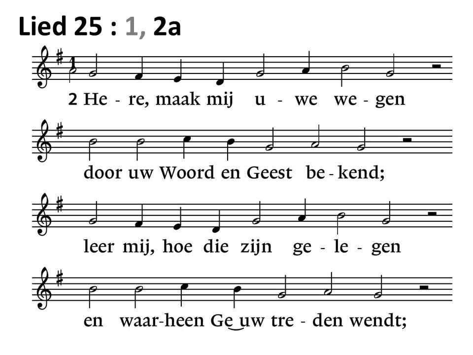 Lied 25 : 1, 2a