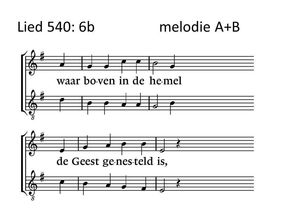 Lied 540: 6bmelodie A+B