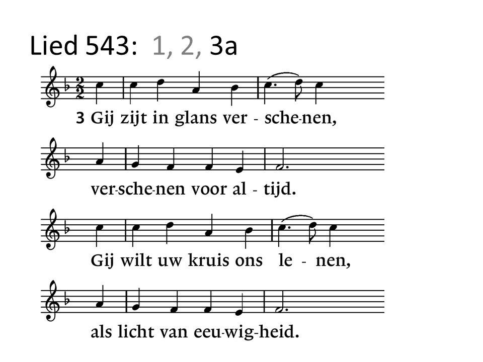 Lied 543: 1, 2, 3a