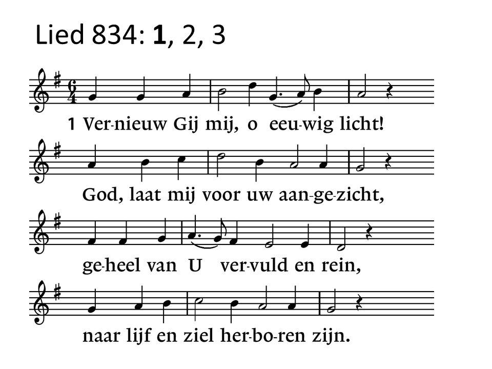 Lied 834: 1, 2, 3