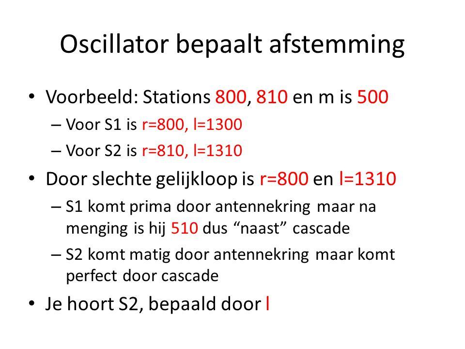 Nauwkeurig afstemmen Nabijselectiviteit zit in MF kringen Oscillator bepaalt welke freq op MF komt Afstemming wordt bepaald door osc Diefenbach AH: Sp