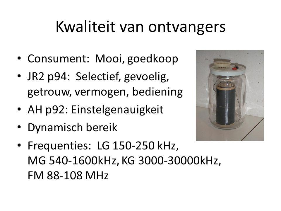 Deel 1: Van Elektron tot Super Rechtuit ontvanger Mengen en frequentie-omzetting Proefjes met de super