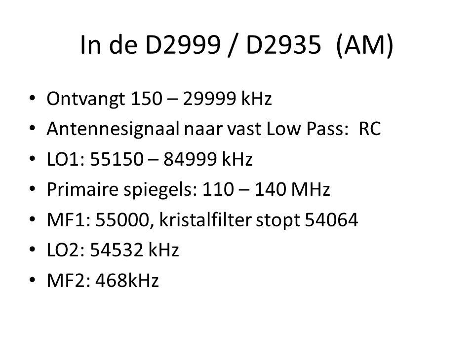 """De Philips D2999 / D2935 PLL: freq deler genereert alle freq met precisie van kwartskristal Digitale sturing Fl 800 """"Modern""""? – Sharpie tot D2999 is 2"""