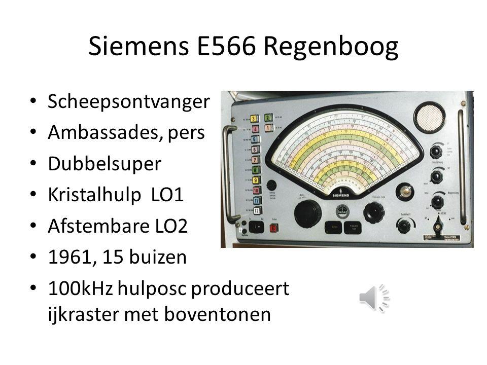 In de D2999 / D2935 (AM) Ontvangt 150 – 29999 kHz Antennesignaal naar vast Low Pass: RC LO1: 55150 – 84999 kHz Primaire spiegels: 110 – 140 MHz MF1: 55000, kristalfilter stopt 54064 LO2: 54532 kHz MF2: 468kHz