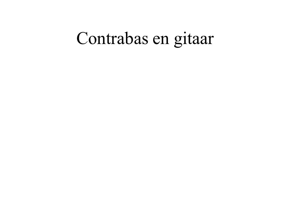 Contrabas en gitaar