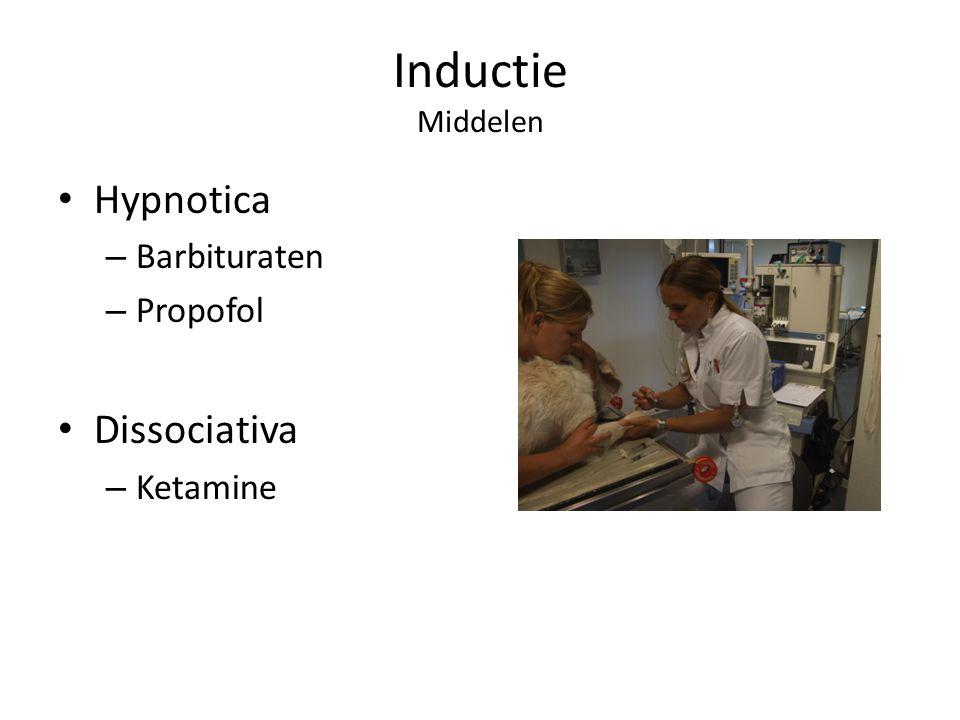 Inductie Middelen Hypnotica – Barbituraten – Propofol Dissociativa – Ketamine