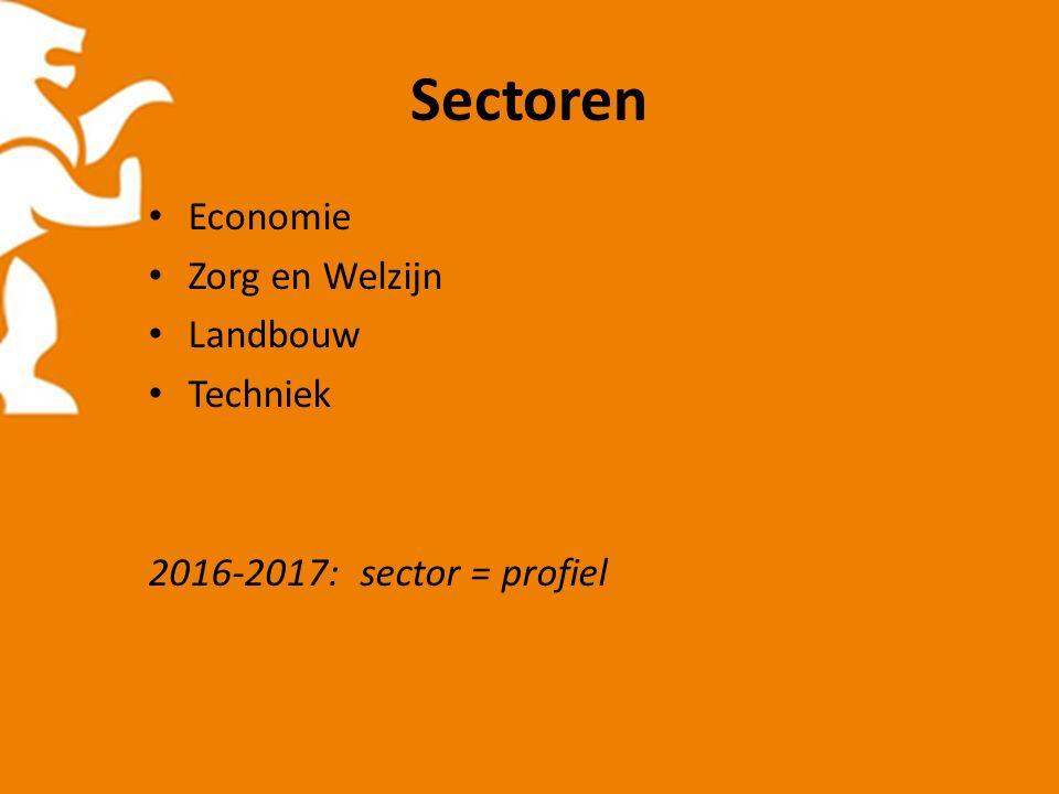 Mogelijkheden per sector SectorRichting EconomieEconomie, handel, mode, banketopleiding, toerisme, secretaresse, etc.