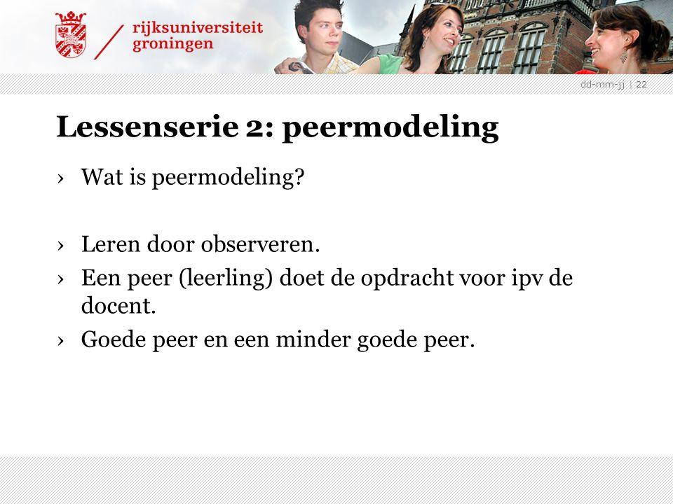 Lessenserie 2: peermodeling ›Wat is peermodeling.›Leren door observeren.