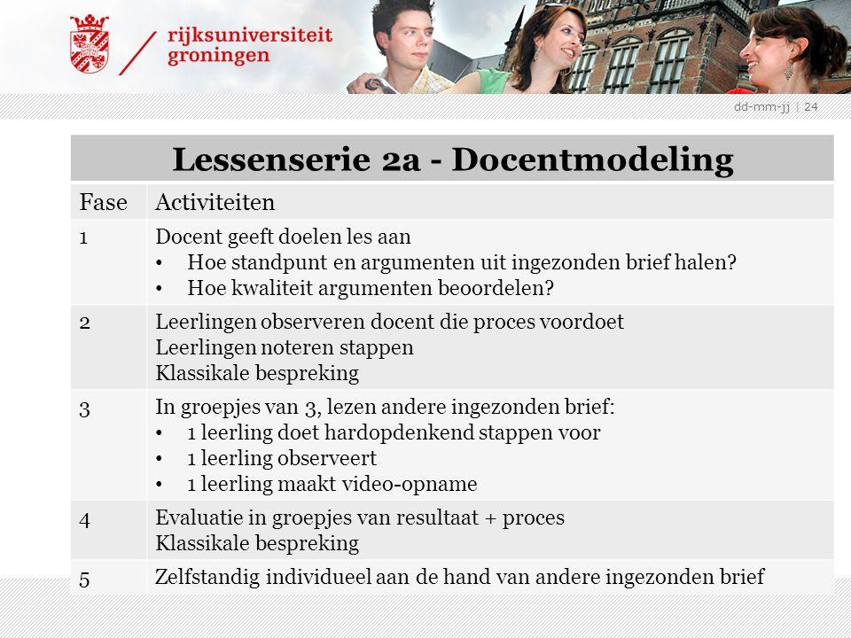 NB: teksten uit De Speld geschikt voor dd-mm-jj | 24 Lessenserie 2a - Docentmodeling FaseActiviteiten 1Docent geeft doelen les aan Hoe standpunt en argumenten uit ingezonden brief halen.