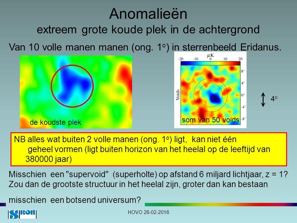 Anomalieën extreem grote koude plek in de achtergrond Van 10 volle manen manen (ong.