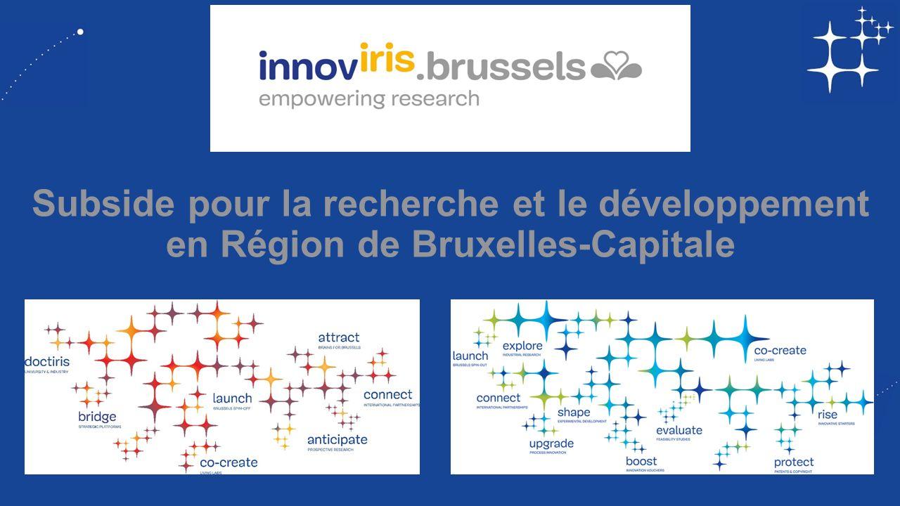 Subside pour la recherche et le développement en Région de Bruxelles-Capitale