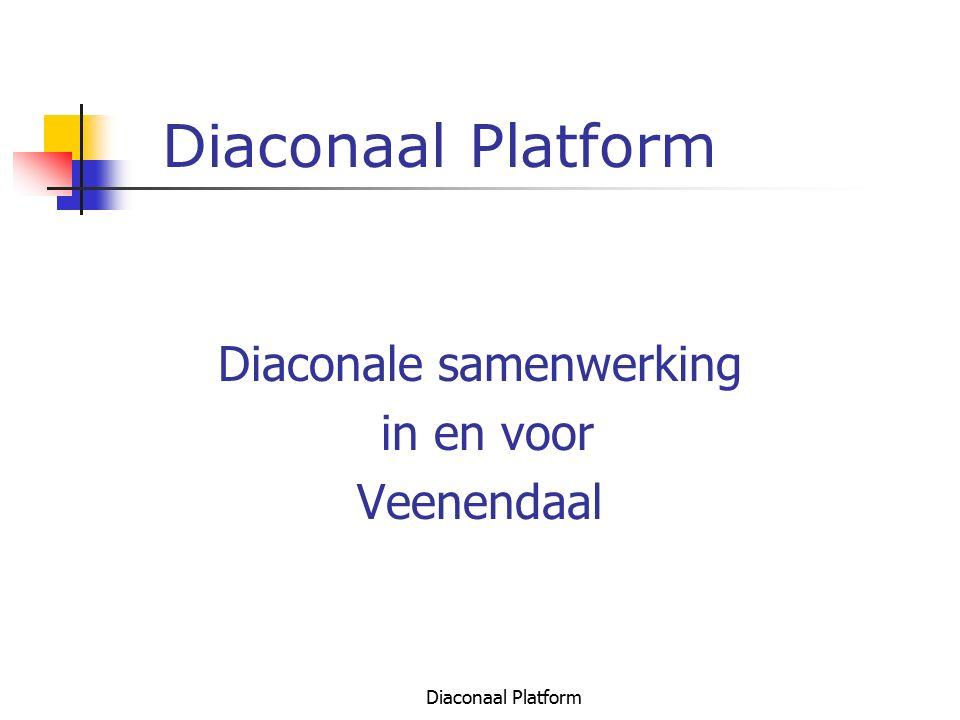 Diaconaal Platform Relatie met Overheid Actieve rol in WMO forum Contacten met wethouder, verschillende raadsfracties, ed.