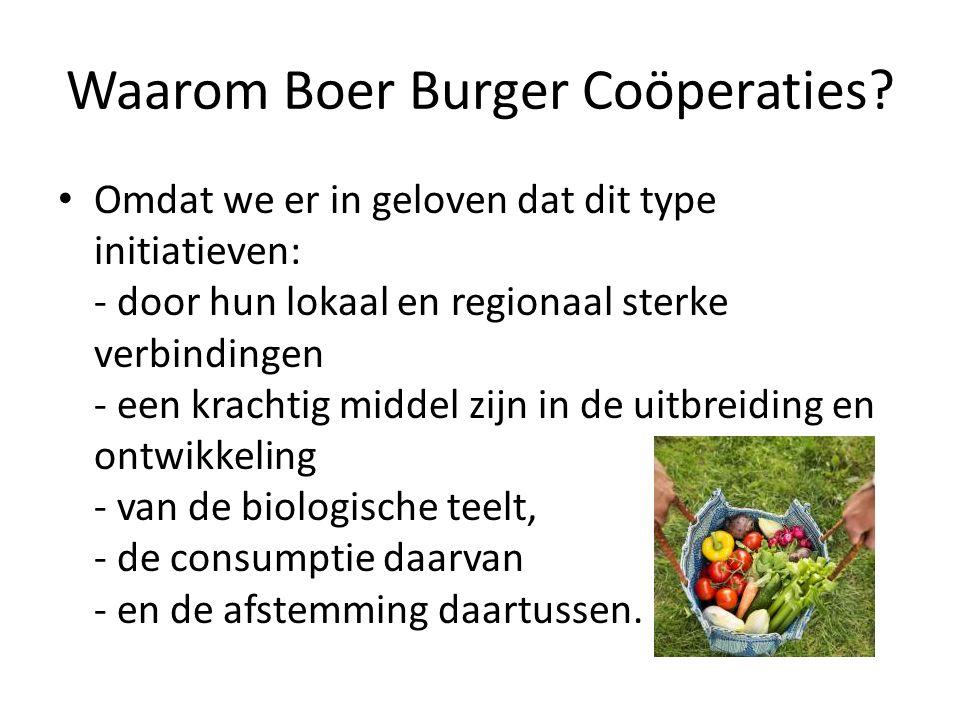 Waarom Boer Burger Coöperaties.