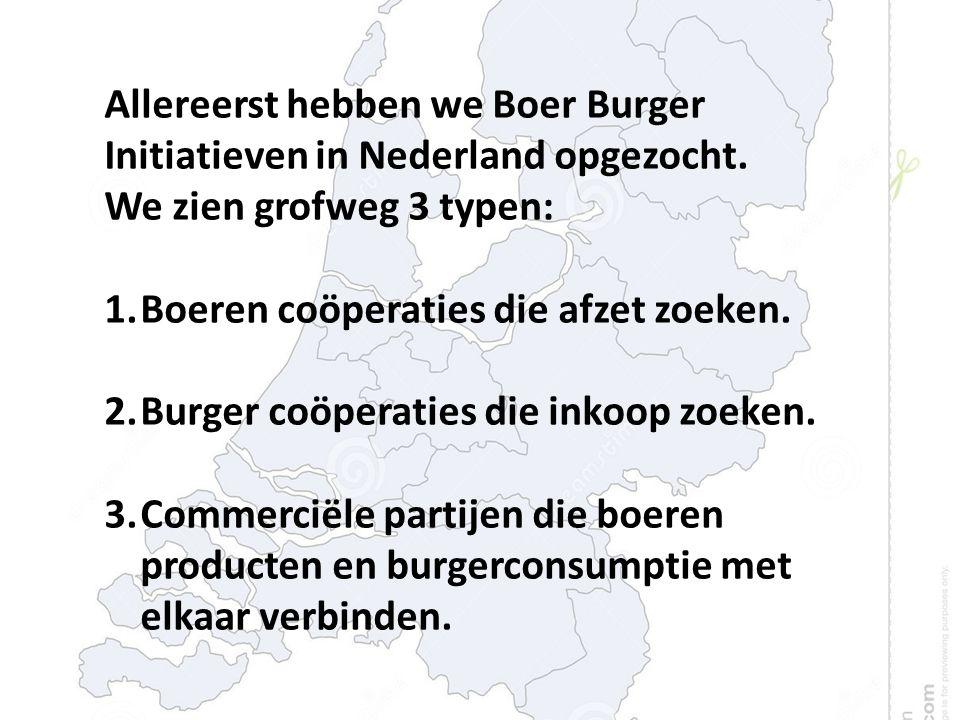 Allereerst hebben we Boer Burger Initiatieven in Nederland opgezocht.