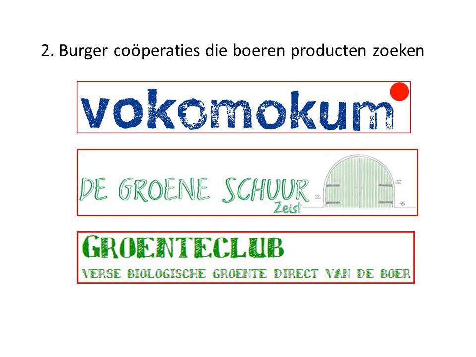 2. Burger coöperaties die boeren producten zoeken