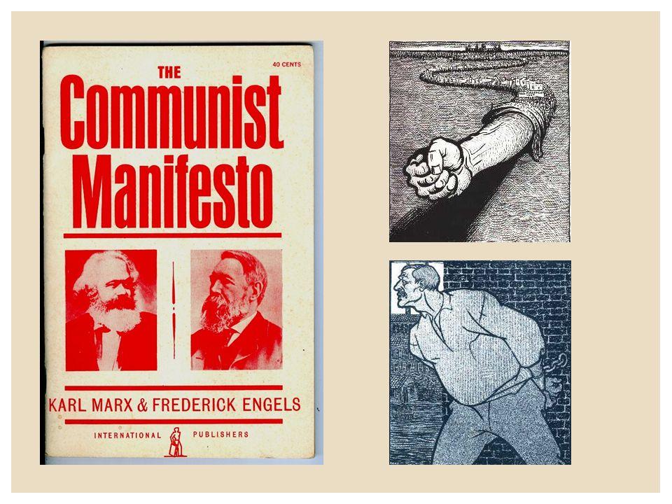  Belangrijkste kenmerken van het Marxisme 1.De samenleving wordt bepaald door het materialisme (wie heeft de productiefactoren in handen) 2.Er is een voortdurende klassenstrijd gaande tussen proletariers (bezitlozen) en de bourgeoisie (bezitters) 3.De geschiedenis voltrek zich volgens wetmatigheden (dogmatisch) 4.Proletarische revolutie leidt tot de dictatuur van het proletariaat 5.Uiteindelijk komt er een communistische heilstaat (de klasseloze maatschappij)