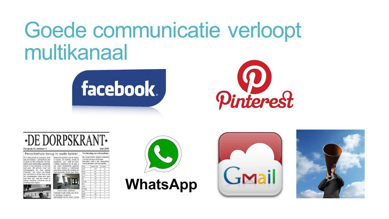 Goede communicatie verloopt multikanaal