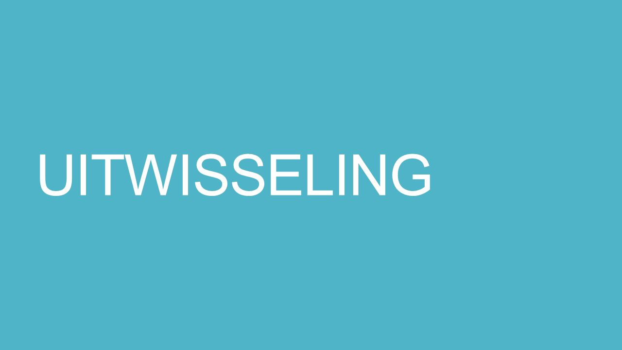 UITWISSELING