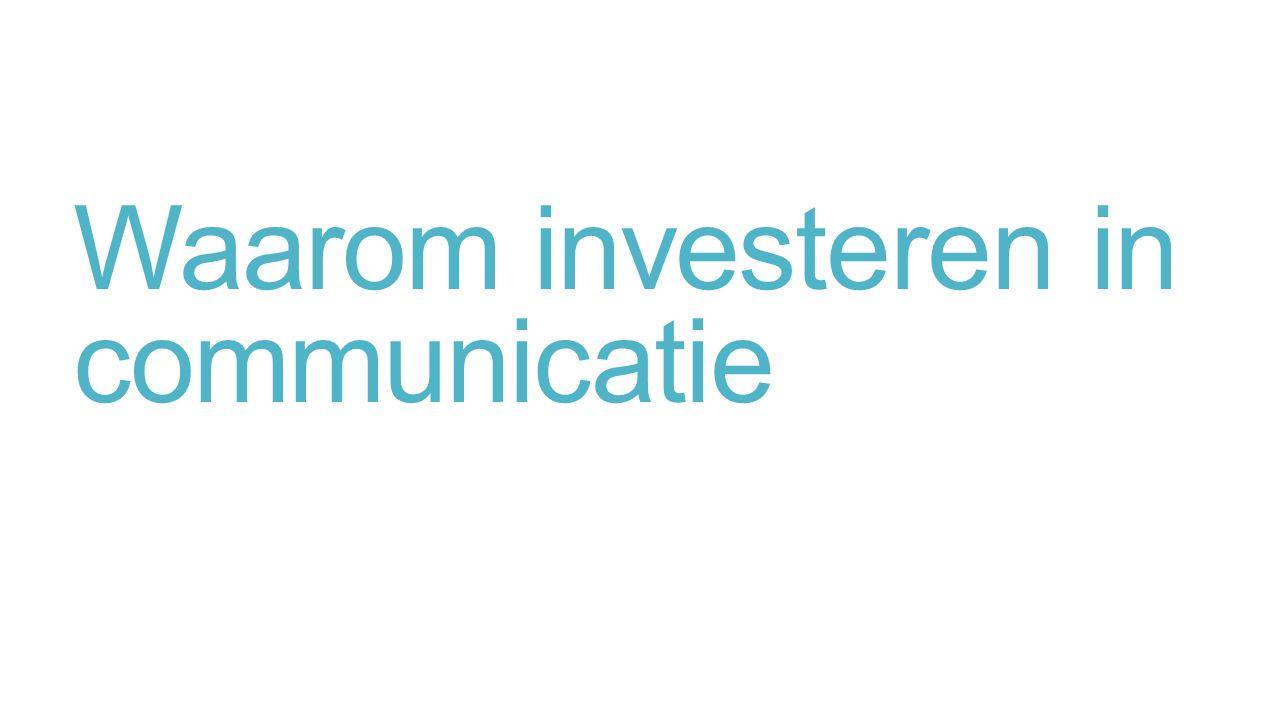 Waarom investeren in communicatie