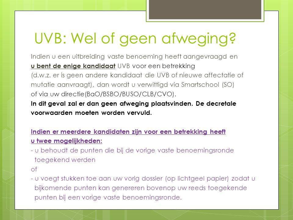 UVB: Wel of geen afweging.