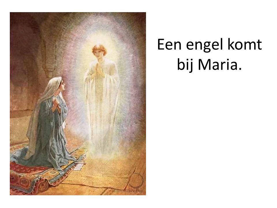 Een engel komt bij Maria.