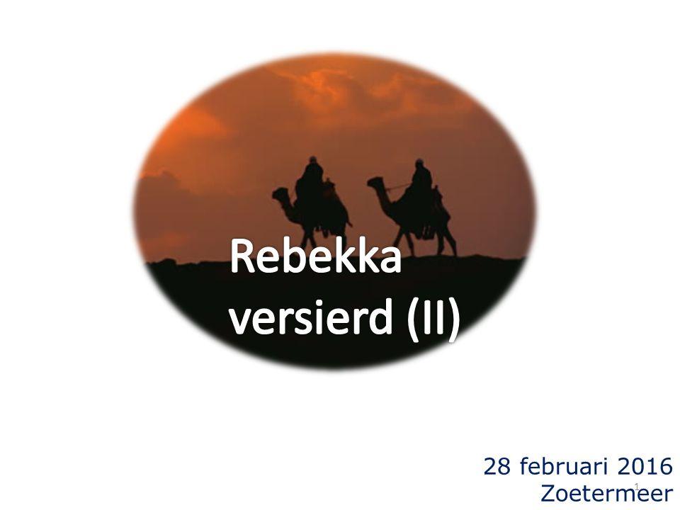 Genesis 24 65 En zij zeide tot de knecht: Wie is die man daar, die ons tegemoet komt in het veld.