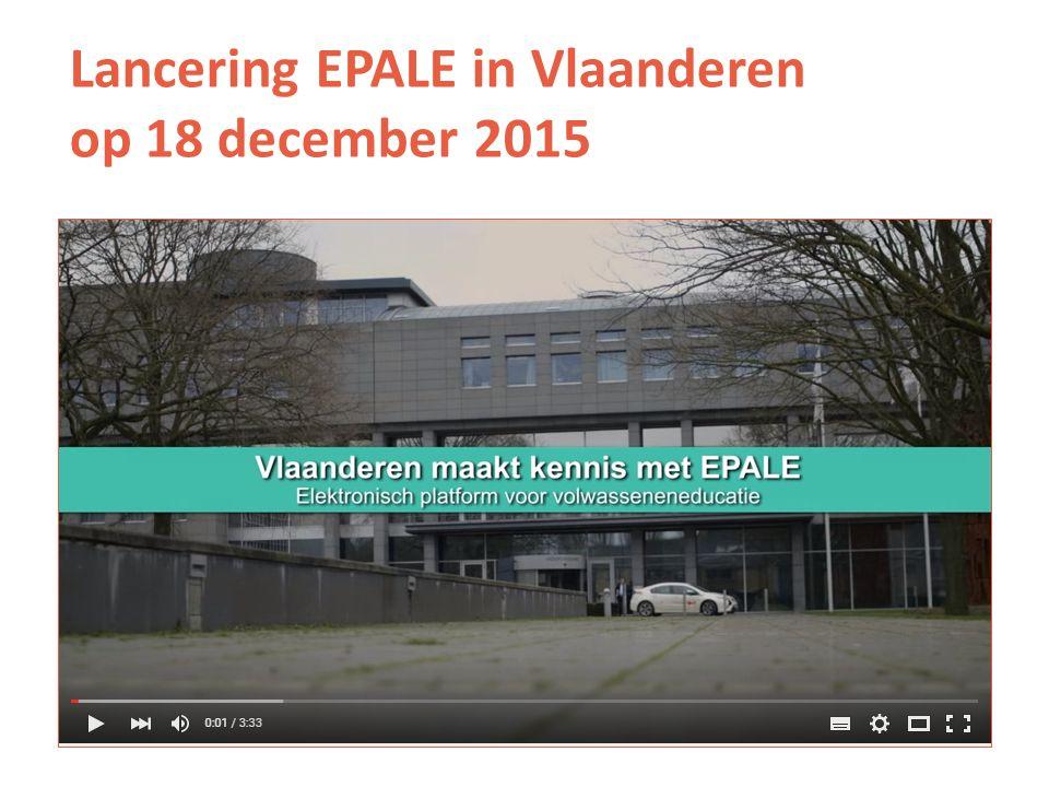 Lancering EPALE in Vlaanderen op 18 december 2015