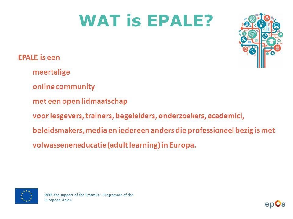 In EPALE vind je een KALENDER met interessante cursussen, conferenties en andere events uit heel Europa