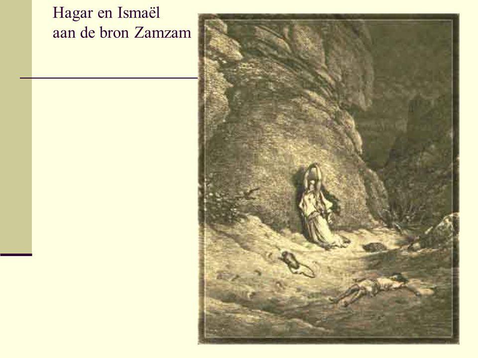 Hagar en Ismaël aan de bron Zamzam