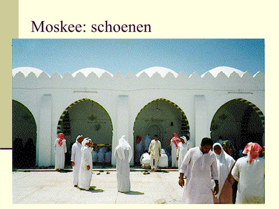 Moskee: schoenen