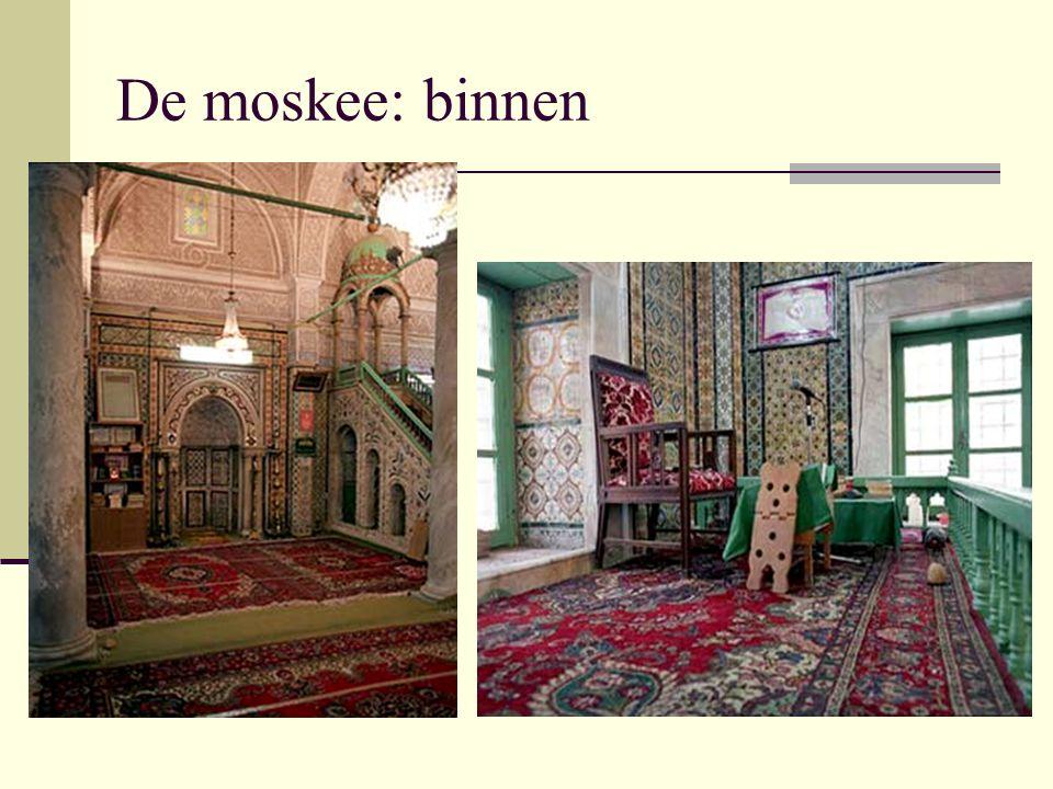 De moskee: binnen