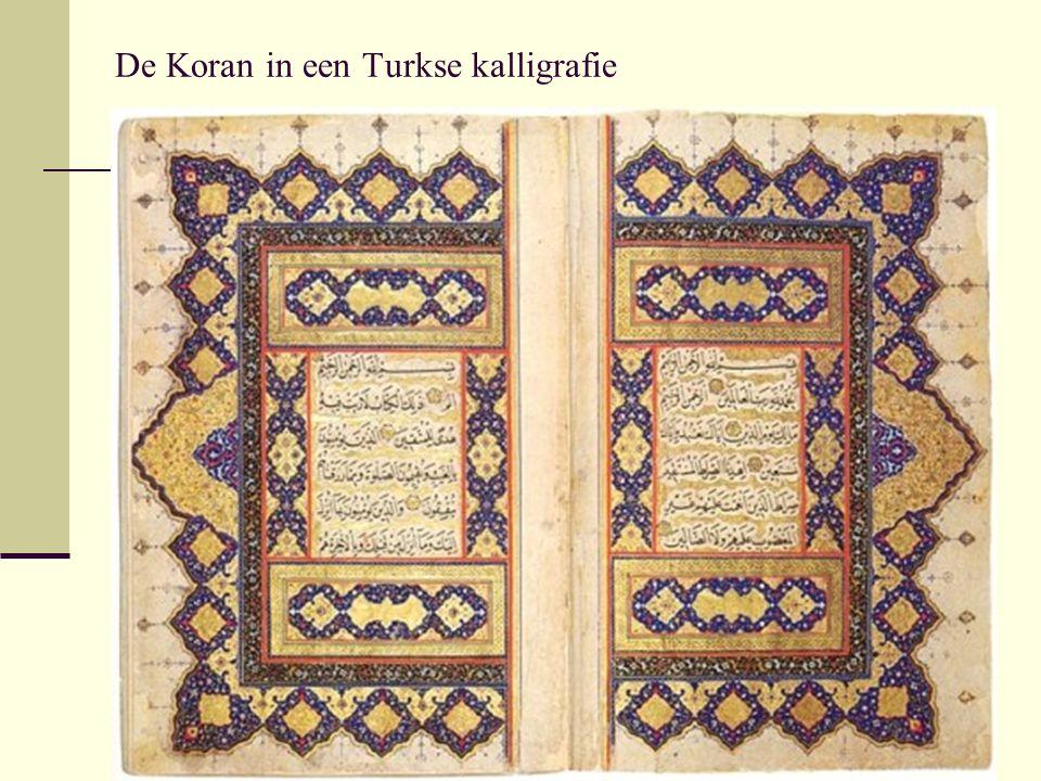 De Koran in een Turkse kalligrafie