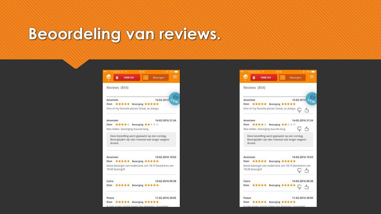 Beoordeling van reviews.