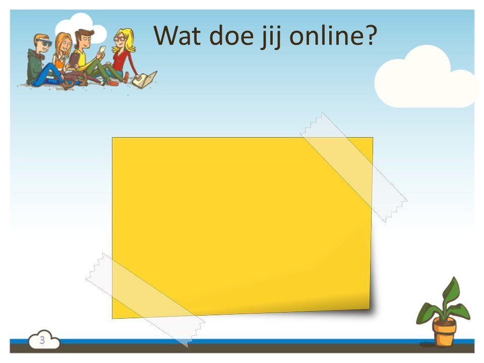 3 Wat doe jij online?